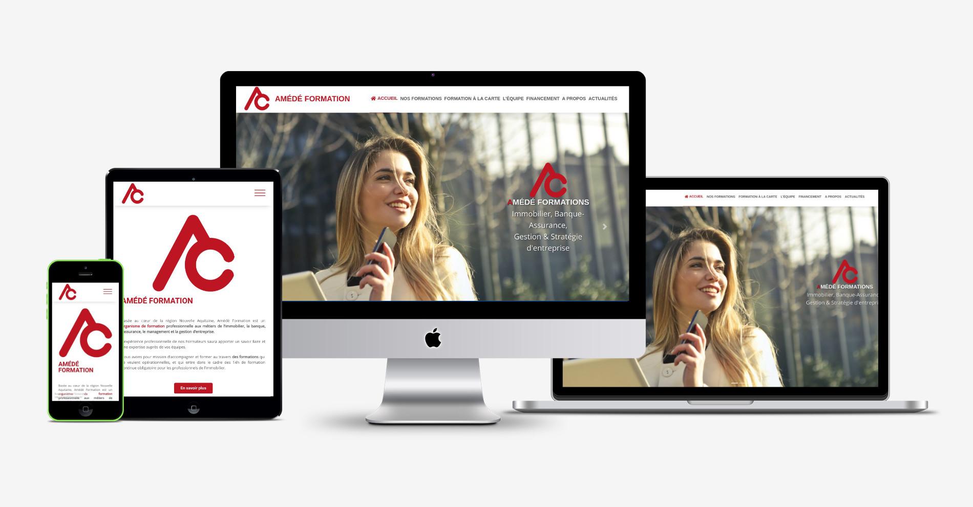Création de site internet responsive pour un organisme de formation professionnelle